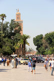 Koutoubia mosque in Marrakesh. Morocco, North Africa stock image