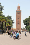 Koutoubia mosque in Marrakesh. Morocco, North Africa royalty free stock photography