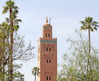 Koutoubia mosque in Marrakesh. Morocco Royalty Free Stock Photo