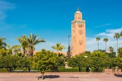 Koutoubia Mosque in Marrakesh, Morocco Royalty Free Stock Image