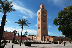 The Koutoubia Mosque in Marrakesh, Morocco. The Koutoubia Mosque or Kutubiyya Mosque is the largest mosque in Marrakesh, Morocco royalty free stock image