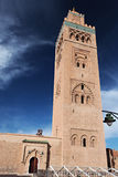 The Koutoubia Mosque in Marrakesh, Morocco. The Koutoubia Mosque or Kutubiyya Mosque is the largest mosque in Marrakesh, Morocco stock image