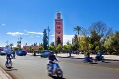 Koutoubia mosque, Marrakesh, Morocco. Royalty Free Stock Photos