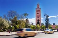 Koutoubia mosque, Marrakesh, Morocco. Stock Image