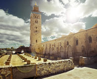 Koutoubia mosque, Marrakesh, Morocco. Royalty Free Stock Photo