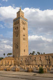 Koutoubia Mosque. The minaret tower of the Koutoubia Mosque in Marrakech, Morocco Royalty Free Stock Photo
