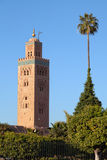 Koutoubia Mosque minaret tower, Marrakesh, Morocco Royalty Free Stock Images