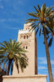 Koutoubia Mosque with palm trees Stock Photography