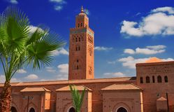 Koutoubia Mosque in the southwest medina quarter of Marrakesh. Morocco Royalty Free Stock Photography