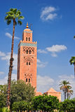 Koutoubia Mosque in the southwest medina quarter of Marrakesh Royalty Free Stock Photography