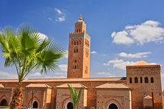 Koutoubia Mosque in the southwest medina quarter of Marrakesh Stock Images