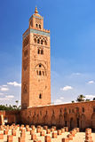 Koutoubia Mosque in the southwest medina quarter of Marrakesh Royalty Free Stock Images