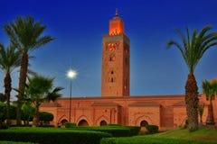 Koutoubia Mosque in the southwest medina quarter of Marrakesh. Morocco stock photo