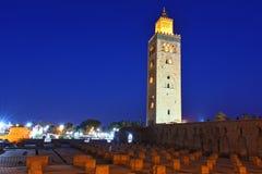 Koutoubia Mosque in the southwest medina quarter of Marrakesh Stock Photo