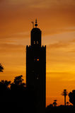 The Koutoubia mosque in sunset, Marrakech Royalty Free Stock Photography