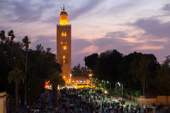 Koutoubia mosque sunset Stock Image