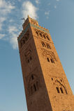 Koutoubia Mosque Tower in Marrakech Stock Photos