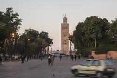 Koutoubia van Marrakech Royalty-vrije Stock Fotografie