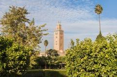 koutoubiamarrakech morocco moské Royaltyfri Fotografi