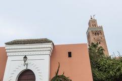 koutoubiamarrakech morocco moské Royaltyfri Foto