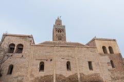 koutoubiamarrakech morocco moské Royaltyfria Bilder