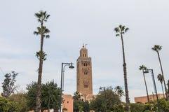koutoubiamarrakech morocco moské Royaltyfri Bild