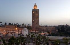 koutoubiamarrakesh minaret Arkivbild