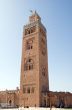koutoubiamarrakesh minaret Arkivfoton