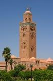 koutoubiamarrakesh morocco moské Arkivfoton