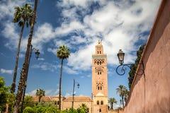 Koutoubiamoskee in Marrakech stock fotografie