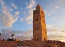 Koutoubiamoskee in Marrakech Marokko Stock Afbeelding