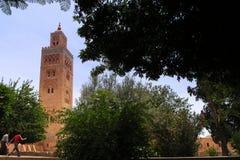 Koutoubiamoskee van Marrakech Stock Afbeeldingen