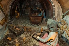 Koutsoyannopouloswijnmakerij en Wijnmuseum in Vothonas Royalty-vrije Stock Afbeeldingen