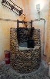 Koutsoyannopouloswijnmakerij en Wijnmuseum in Vothonas Royalty-vrije Stock Foto's