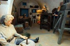 Koutsoyannopouloswijnmakerij en Wijnmuseum in Vothonas Stock Afbeeldingen
