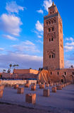Koutoubia mosque in Marrakech Royalty Free Stock Image