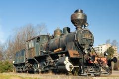 Kouvola, Φινλανδία - 18 Απριλίου 2019: Παλαιά ατμομηχανή ατμού ως έκθεμα στο σιδηροδρομικό σταθμό Kouvola στη Φινλανδία στοκ εικόνες
