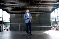 Kouvola, Finlandia - 30 2016 Maj: Sauli Niinisto, prezydent Finlandia odwiedza grodzkiego Kouvola na Maju 30, 2016 Zdjęcia Stock