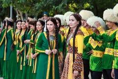 Kov-Ata, Туркменистан - 30-ое апреля 2017: Туркменская национальная свадьба Стоковые Фотографии RF
