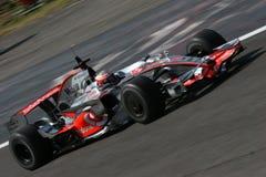Kovalainen Heikki su Mercedes f1 Fotografie Stock Libere da Diritti