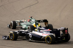 Kovalainen & Senna racing in F1 on 20 April 2012 Stock Photo