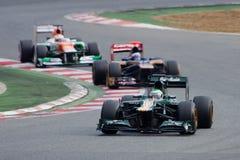 Kovalainen vs Ricciardo vs Di Resta - F1 2012 Zdjęcia Stock