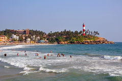 Kovalam Beach. In Kerala state,India royalty free stock images