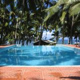 Swimming pool in Kovalam royalty free stock images