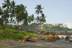 Kovalam Strand, Kerala lizenzfreies stockfoto