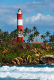 Kovalam (Vizhinjam) lighthouse. Kerala, India Royalty Free Stock Image