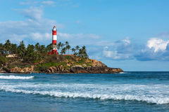 Kovalam (Vizhinjam) lighthouse. Kerala, India Royalty Free Stock Images
