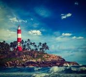 Kovalam (Vizhinjam) lighthouse. Kerala, India Royalty Free Stock Photo