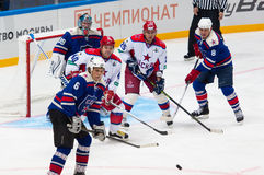 A. Kovalenko (40) and V. Zelepukin (25) in attack Royalty Free Stock Image