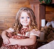 Kovaleva_Valeria Gesicht, blaue Augen! Lizenzfreies Stockfoto